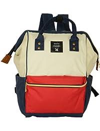 Backpack Handbag For School, Office, Travel Bag, Laptop Bag (Red & White) For Unisex By Shoppertize.