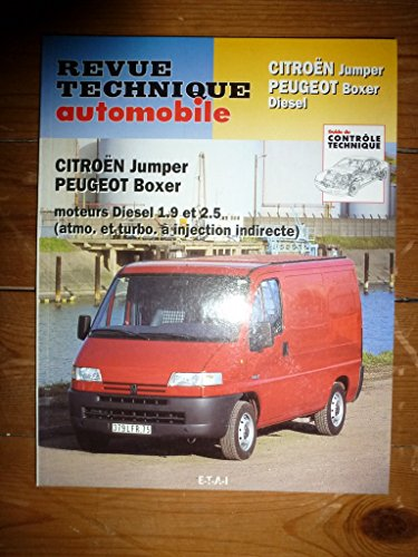 Revue technique0583.1 – REVUE TECHNIQUE AUTOMOBILE CITROEN JUMPER – PEUGEOT BOXER ET FIAT DUCATO