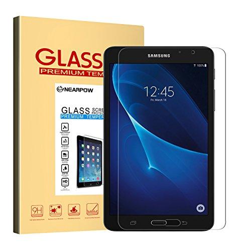 NEARPOW 【2 Stück】 Samsung Galaxy Tab A 7.0 Panzerglas Displayschutzfolie, Schutzfolie 9H Härte, Anti-Kratzen, Anti-Öl, Anti-Bläschen, - Schirm 3 7 Galaxy Tab Samsung