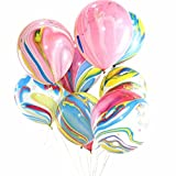 Youlala 100/lot Marmor Achat Latex 30,5 cm Ballon Party Geburtstag Baby Zeigt Ballon für Geburtstag Party Bunt