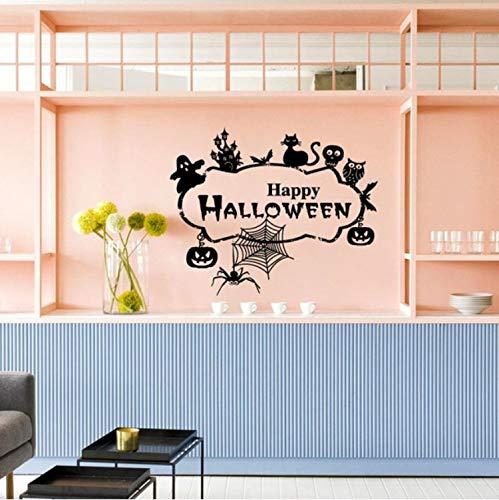 Selbstklebende abnehmbare wasserdichte pvc diy dekoration happy halloween home haushalt zimmer wandaufkleber wandbild dekor aufkleber