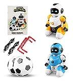 DA XIN Giocattolo del Robot del Telecomando interattivo, con Il Robot di Camminata di Ballo di Musica, Gioco dell'interno di Calcio Regali del Giocattolo per Le Ragazze dei Ragazzi 3-10 Anni
