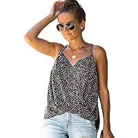 JIER Liquidación Mujer Escote en V Tirantes Estampado Floral Camiseta sin Mangas Blusa sin Mangas Camisas Chaleco