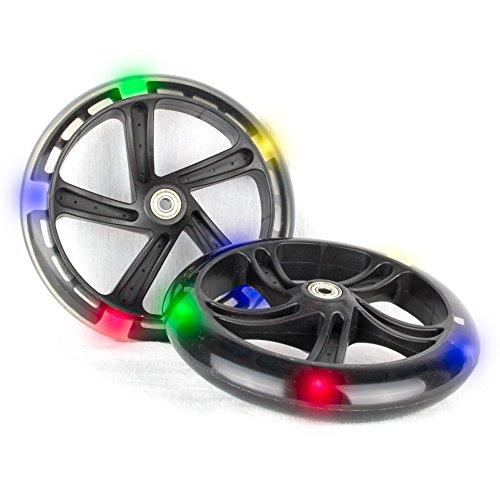 Hepros Leuchträder 200mm Ersatzräder für Cityroller 5 LED - 2 Stück