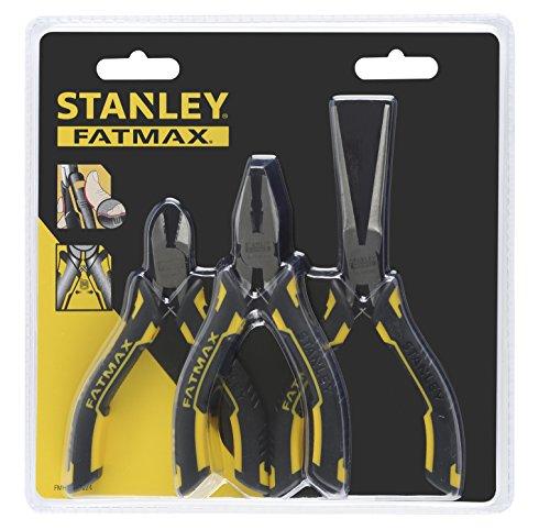 STANLEY FMHT0-80524 - Set mini-alicates FatMax 3 piezas (Universal, diagonal y boca larga)