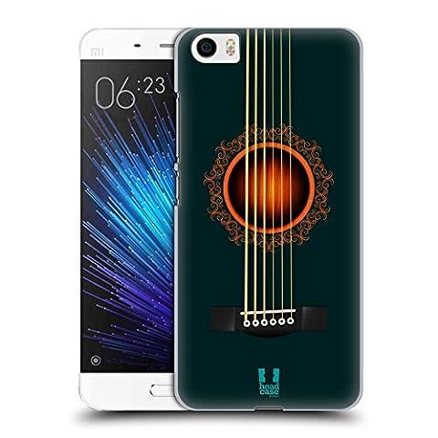 Head Case Designs Sombre Turquoise Guitare Acoustique Étui Coque D'Arrière Rigide Pour Xiaomi Mi 5