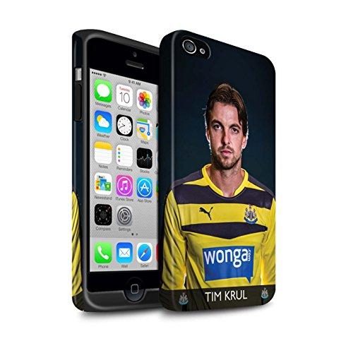 Officiel Newcastle United FC Coque / Matte Robuste Antichoc Etui pour Apple iPhone 4/4S / Pack 25pcs Design / NUFC Joueur Football 15/16 Collection Krul