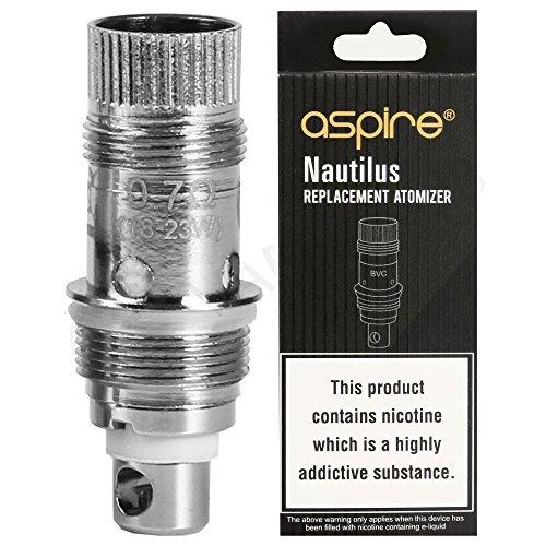 Aspire PockeX Spule 0.6 Ohm für PockeX AIO Starterkit, Vape Tank E Zigarette Zerstäuber Kopf (5er Pack), Nikotinfrei, ohne E-Liquid
