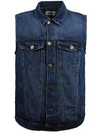 LUSI MADAM Homme Jean Gilet, Bouton De Mode Cowboy Gilets Survêtement Tops  Blazer Casual Gilet e8d3385422e0