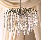 Klar Acryl Kronleuchter Kristall Reißfestigkeit Wassertropfen chrom Rahmen 4Ebenen Deckenleuchte Schatten Anhänger