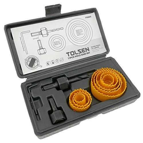 Estuche de 8 coronas redondas para serrar agujeros de madera de Tolsen