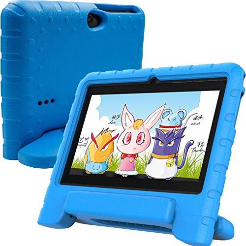 TURNMEON Kids Kinder Android Tablet PC 7 Zoll IPS mit WiFi Dual Kamera Spiele Quad Core 8G ROM 1G RAM Edition Bluetooth Video Unterstützt mit vorinstallierten Eltern Control Software-iWawa OS / AR Lernen Apk & Karten (Blau)