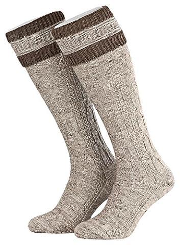 Tobeni 1 Paar Herren Trachten Strümpfe Kniestrümpfe Socken lang mit