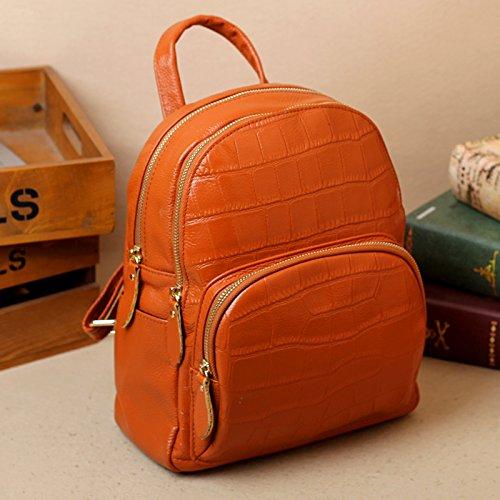 Sprnb Borsa a tracolla in pelle femmina Institute, vento libro, Baotou strato, strato in pelle,verde Orange