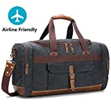 Best BLUBOON Bag For Men - Holdall Overnight Weekend Bag Travel Duffel Bag Canvas Review