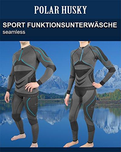 Sport-Funktionsunterwäsche-Set für Damen und Herren von POLAR HUSKY® Schwarz/Grün