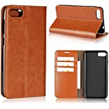 Asus ZenFone 4 Max ZC520KL Wallet Case, Danallc [ Folio Style ] Premium Asus ZenFone 4 Max ZC520KL Card Cases Stand Feature For Asus ZenFone 4 Max ZC520KL [Brown ]Case Compatible With Flip