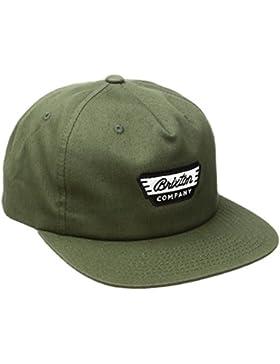 Brixton Normandía Snapback–Gorra para hombre, hombre, NORMANDIE Snapback, verde oliva, talla única