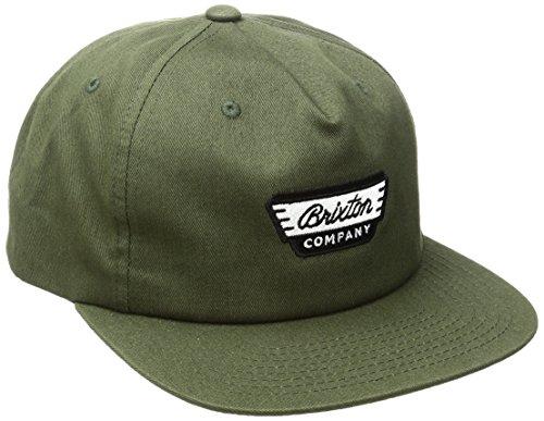 Brixton Herren Normandie Snapback Cap, Olive, One Size (Normandie-caps)