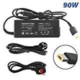 ANTIEE AC Adapter 20V 4.5A 90W Laptop Computer Charger Notebook PC Power Supply for Lenovo Thinkpad X240 E440 E540 Carbon X1 G410 G500 G50S G505S G510S G700 Edge T440 E431 E531 T431S S431 Power Cord