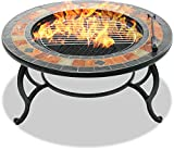 CENTURION Supports fireology laniaka Garten Heizung/Fire Pit/Couchtisch/Grill/Ice Bucket – Slate Finish