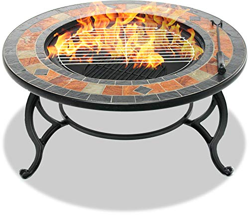 CENTURION Supports fireology laniaka Garten Heizung/Fire Pit/Couchtisch/Grill/Ice Bucket - Slate Finish -