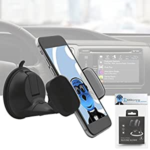 Heavy Duty (Case Compatible) 360 Degrees Rotating Multi Angle Windshield Dashboard Car Mount Holder for HTC Pure