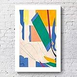 NBHHDH Impression sur Toile,Abstract Copie De Matisse, Photos Poster Print Home Decor,Pas De Cadre pour Chambre À Coucher, Salon, Couloir ,Hotel, Cafe,50×70Cm