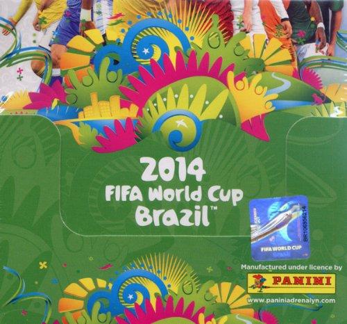 Panini 058956 - Adrenalyn World Cup 2014 Brazil Display, 50 Booster, 6 Karten (2014-karten-sets Wm)