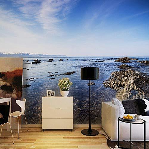 Wandbilder Tapete Dekoration Benutzerdefinierte 3D Natur Landschaft Rock Beach Malerei Foto für Wohnzimmer Schlafzimmer Home Decor 350x256cm -