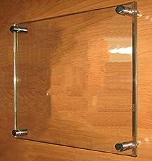 BIGMALL Acrylic Transparent Sandwich Sheet Board - 12x12Inches
