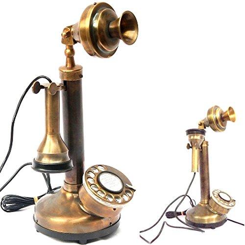 Coleccionables comprar Vintage antiguo dial rotatorio teléfono latón