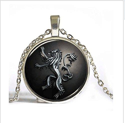 Hot Drama Game of Thrones Halskette Anhänger House Stark von Winterfell-Schmuck Gothic Brille Drachen Anhänger Halskette Kette 2