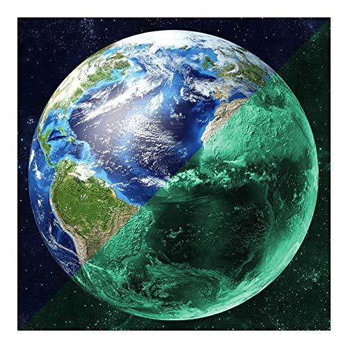 r 30cm Wandsticker ERDE - Im Dunkeln nachleuchtender Wandsticker. Nachleuchtendes Planeten-Wandbild. Glow in the Dark Aufkleber. ()