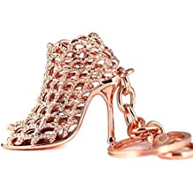 Maycom® High-heeled Shoe Keychain Creative Fashion Refinement Lady Gift Hollow Shoes Keyring Key Chain Ring Keyfob 86113 (Rose Gold) by Maycom