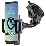 MidGard Universal 360° drehbar Saugnapf Handy Autohalterung für Handy, Smartphone, Phablet, Navigationsgeräte usw.