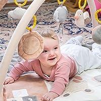 Manta Bebe Algodon 100% Organico, rosado & gris & blanco. Manta bebé niña