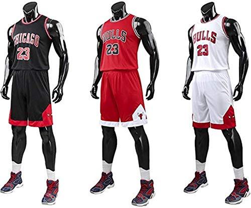 Kinder Junge Herren NBA Michael Jordan # 23 Chicago Bulls Retro Basketball Shorts Sommer Trikots Basketballuniform Top & Shorts Basketball Anzug