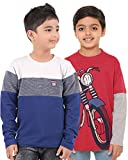 #6: BodyGlove Boy Kids Casual Round Neck Printed T-Shirt Combo, Full Sleeve, Cotton