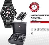 Swiss Military 06-8041.13.007 - Reloj analógico de Cuarzo para Hombre con Correa de Acero Inoxidable, Color Negro de Swiss Military