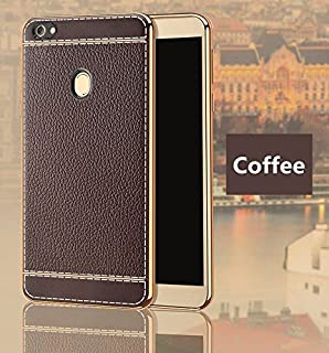 Excelsior Silicon Back case Cover for Oppo F7  Coffee