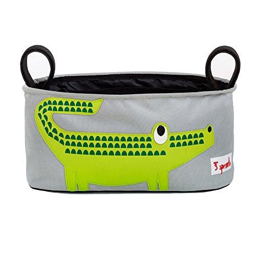 3 Sprouts - Organizador para la silla de paseo - Cocodrilo