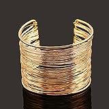 Qiuxiaoaa Teleskop Edelstahl Ring Armband Schmuck Europa und die Vereinigten Staaten Explosion Modelle Hot Kupfer Armband Ring Live Push und Pull einstellbar Gold