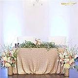 ShinyBeauty Nappe de mariage avec sequins Champagne 152x 259cm, champagne, 125x180cm