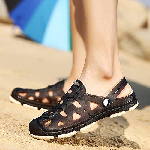 Xing Lin Chaussures DÉté Hommes Chaussures Homme Trou Nouveau Printemps Et DÉté, Sandales Hommes Creux Non - Jeunes Plages Chaussures Sandales WY801 black