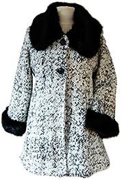 Manteau veste femme laine et fourrure chaud et confortable 38/42