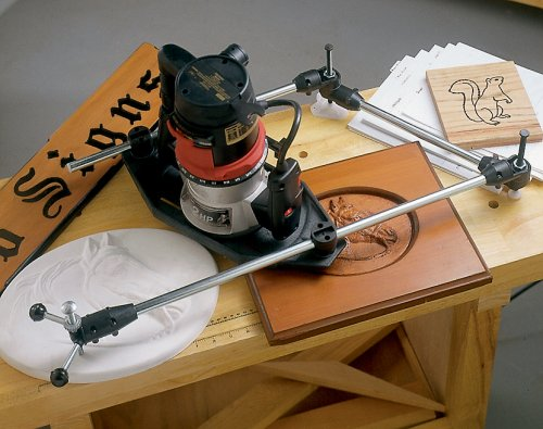 Milescraft 1298 3D Pantograph - Rout ANY font or line drawing, and create amazing signs and designs with your router