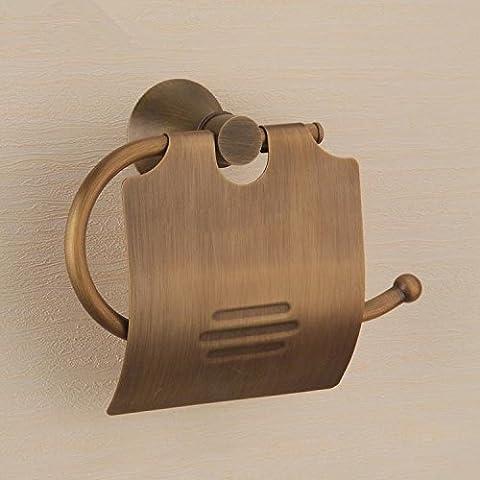 RRJH In bronzo antico portafazzoletti in ottone solido porta-carta