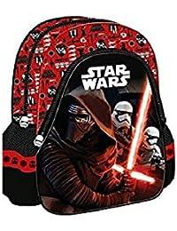 """Preisvergleich für Kinder Rucksack - Star Wars - Kinderrucksack - mit Hauptfach und Nebenfach Star Wars Junior Rucksack 10"""" rot"""