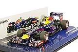 Minichamps 1:43 Escala '2013 Infiniti Red Bull Renault RB9 Sebastian Vettel ganador del GP de Bahrein' del coche (azul)